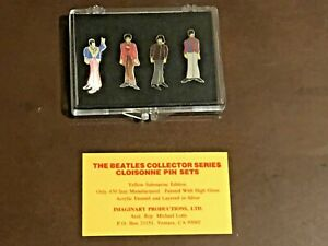 The Beatles Cloisonne Pin Set Yellow Submarine Edition