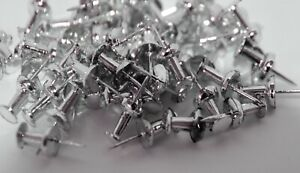 Pack of 50 Silver Push Pins Ideal for Cork Board