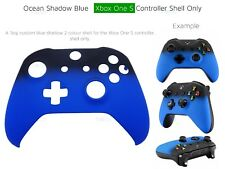New Xbox One S Blue Velvet Soft microsoft Controller Front Ocean Shadow Shell