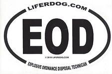 4 x 6  OVAL  UNITED STATES  NAVY EOD EXPLOSIVE ORDNANCE DISPOSAL TECH  STICKER