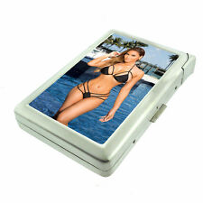 Australian Pin Up Girls D8 Cigarette Case with Built in Lighter Metal Wallet