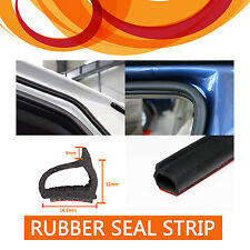 5M D Shape Rubber Seal Strip Dust Proof Car Auto Door Edge Trim Hollow Adhesive