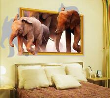Animals Africa Elephant Home Room Decor Removable Wall Stickers Decal Decoration