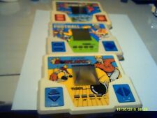 1987 Tiger Electronic Handheld Pocket Games TESTED Working FOOTBALL-BOWLING-GOLF