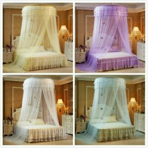 Elegant Dome Bedding Mosquito Net Canopy Princess Bed Tent Curtain Foldable Home