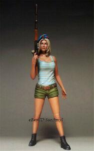 1/35 Female Russia Soldier Girl Resin Kits Unpainted WW2 Figure Model GK
