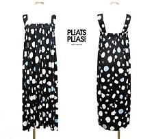 2010 PLEATS PLEASE ISSEY MIYAKE Wide Strap Bare Top Dress Polka Dot Black Size 3