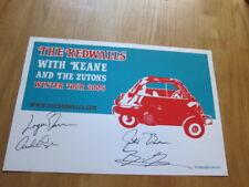 REDWALLS Keane 2005 concert poster blue  #ed AUTOGRAPHED