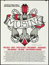 MuseInk 2010 Silkscreen Poster with The Cult, Nofx, Damned, Buzzcocks, Tattoo