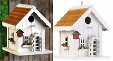 Cute HAPPY HOME BIRDHOUSE *Trellis~Window Boxes~Birdhouse & Faux Flowers* NIB