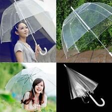 Stylish Transparent Clear Rain Umbrella Parasol PVC Dome for Wedding Party Favor