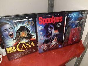 Sola in quella casa, Spookies, Supermarket Horror. Dvd esclusiva SpaghettiHorror