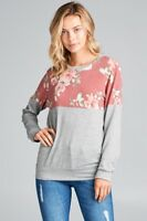 NWT Small Women's Floral Long Sleeve Top Boutique Blouse