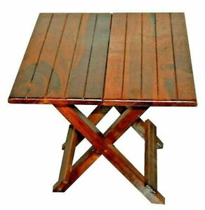 Indian Wood Solid Sheesham Mahogany Surface Foldable Table Wood Dining Table