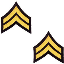 CORPORAL CHEVRON POLICE ARMY MILITARY SECURITY UNIFORM INSIGNIA PATCH GOLD BLACK