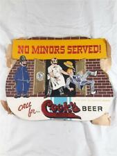 "Great Vintage Embossed Advertising Sign ""Cook's Beer"" ""No Minors Served ! """