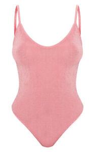 Womens Sleeveless Cami Top Ladies Leotard Camisole Vest Glitter Strappy Bodysuit