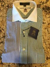 New Tommy Hilfiger Color Block Vintage French Cuff Shirt Dress Shirt 16.5-33 NWT
