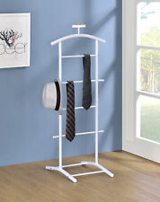 Kings Brand Furniture - Menros Metal Suit Valet Stand, Clothes Rack, White
