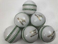 Black Ash Lot Of 6 Pvc Soft Cricket Training Balls White Weight 90 Grams