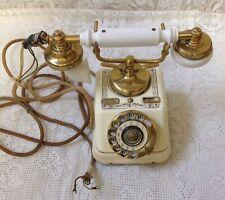 Antique KTAS Kjobenhavns Telefon Aktieselskab Vtg Rotary Telephone Cream & Gold