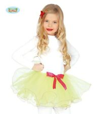 Children's Ballet/Dance Layer Tutu In Yellow With Pink Bow