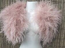 Vintage Blush Pink Ostrich Feather and Marabou Feather Bolero/Jacket