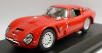 Best 1/43 Scale Metal Model - 9087 ALFA ROMEO TZ2 PROVA1965 ROSSO/RED
