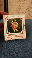 1987 Hallmark Keepsake  Ornament Baby's First Christmas Baby in Bouncer NIB NEW