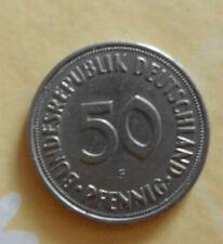 50 Pfennig Münze Bundesrepublik Deutschland 1950 Prägeort  F
