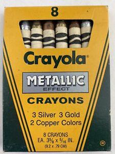 Rare Vintage 1987 Crayola Metallic Effect Crayons 8 Pack