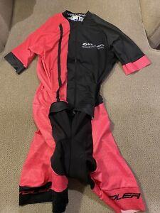 Womens Voler Pink Black Cycling Skinsuit Speedsuit XL