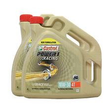 Castrol Power 1 Racing 4T 10w-30 Synthetic 4T 10W30 Bike Oil - 8 Litres: 2 x 4L