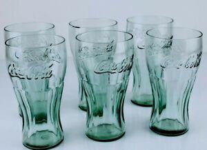 Set 6 Bicchieri in vetro COCA COLA Pubblicitario Collezionismo Vintage Originali