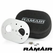 Ramair Carb filtros de aire con placa base Weber 40 Idf 100 Mm Perno De