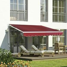 9.8 x 6.5 ft. Manual Retractable Awning Red Model Outdoor Deck & Patio Awning