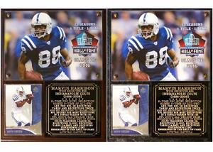 Marvin Harrison #88 Pro Football Hall of Fame Photo Card Plaque Colts