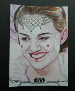 TOPPS STAR WARS 2020 HOLOCRON SERIES QUEEN AMIDALA SKECTH CARD 1/1