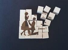Puzzle cube . Demande en mariage