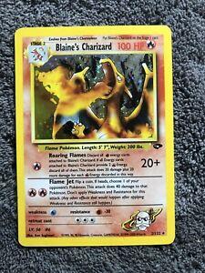 1999-2000 Pokemon Gym Challenge Blaine's Charizard 2/132 Holo Rare *SEE PHOTOS*