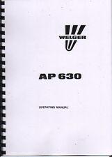 Welger AP 630 Baler Operator Instruction Manual Book