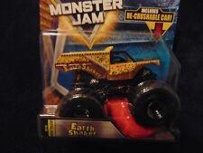 EARTH SHAKER 2018 NEW Hot Wheels Monster Jam Truck  w/ Re-crushable Car