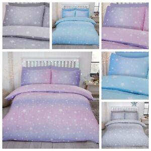Bedding Heaven® STARBURST Flannelette Sheets + Duvet Covers  Blush - Ice - Grey