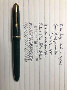 Green Parker Lady Fountain Pen