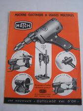 PUBLICITE , MACHINE ELECTRIQUE A USAGES MULTIPLES , MATCH , PONCER SCIER PERCER