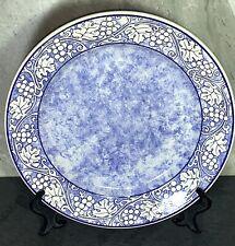 """RARE PATTERN La Primula Quadrifoglio Italy SRL 11"""" Chop Plate BLUE"""