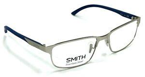 NEW AUTHENTIC SMITH BALPARK 7MX SILVER/BLUE 56/17/140 EYEGLASSES