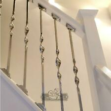 New 85cm Stainless Steel Stair Spindle Single Bold Twist with Rake Brackets