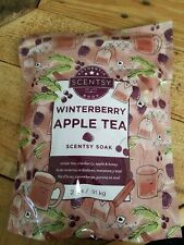 New Scentsy Body Bath Soak Winterberry apple tea 2 lb cranberry honey