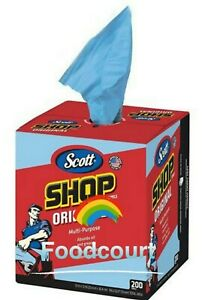"SCOTT Original Blue Shop Towels Box - 200 Paper Towels 10"" X 12"""